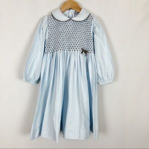 Carriage Boutiques Smocked Long Sleeve Dress